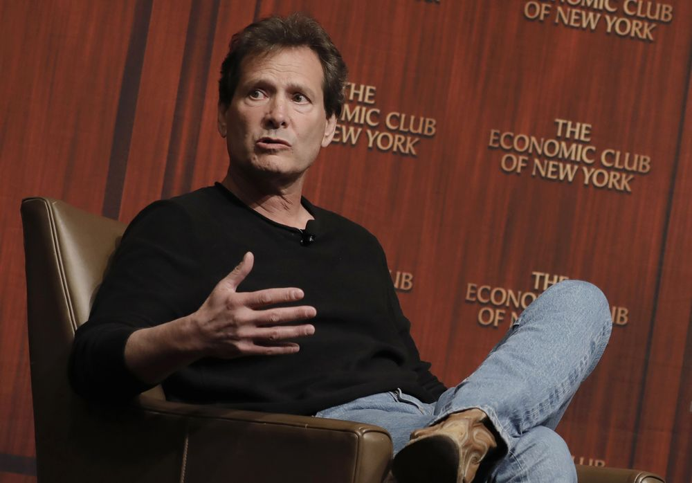 Dan Schulman, president and chief executive officer of PayPal Holdings Inc., speaks during an Economic Club of New York event in New York, on March 8.  Photographer: Peter Foley/Bloomberg